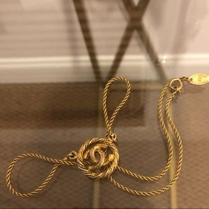 Authentic Gold Plated Vintage CHANEL CC Necklace